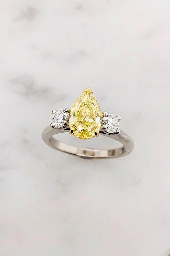 pear shaped engagement rings white gold engagement ring diamond ring