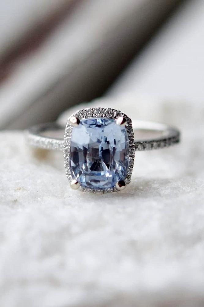 sapphire engagement rings white gold engagement ring halo engagement ring