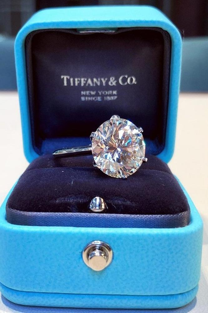tiffany engagement rings solitaire engagement rings white gold engagement rings round cut engagement rings
