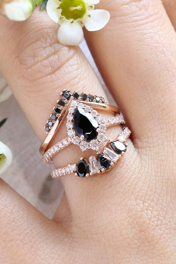 wedding ring sets rose gold engagement rings diamond engagement rings pear shaped rings