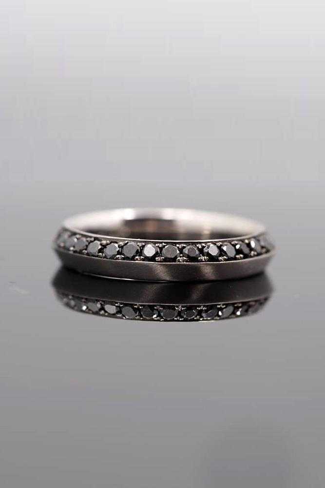black diamond engagement rings rose gold wedding bands unique wedding bands