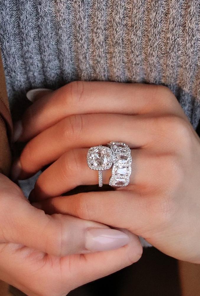 diamond wedding rings white gold wedding rings halo wedding rings bridal sets