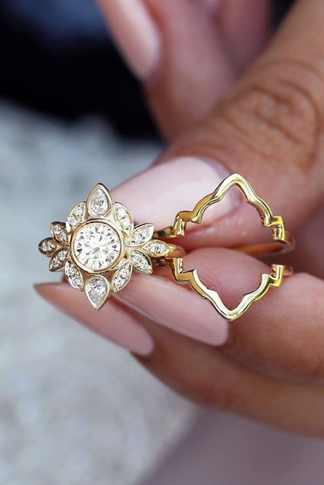 diamond wedding rings yellow gold wedding rings bridal sets