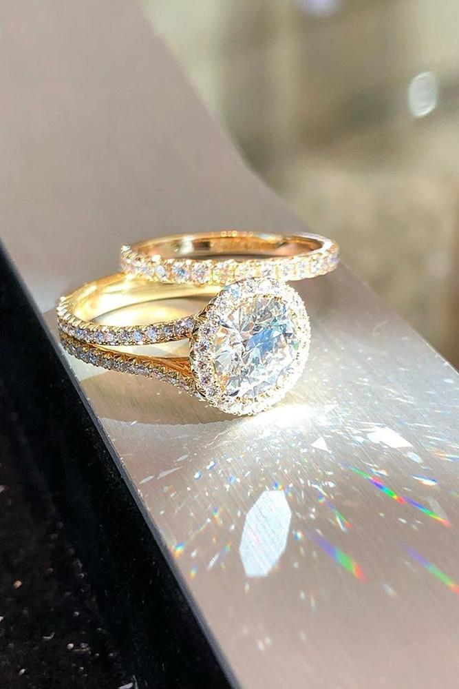 diamond wedding rings yellow gold wedding rings halo wedding rings