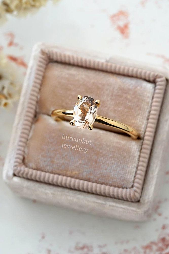 morganite engagement rings rose gold engagement rings oval cut rings