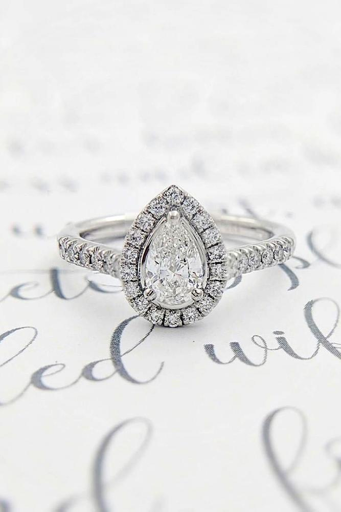pear shaped engagement rings white gold engagement rings diamond halo engagement rings