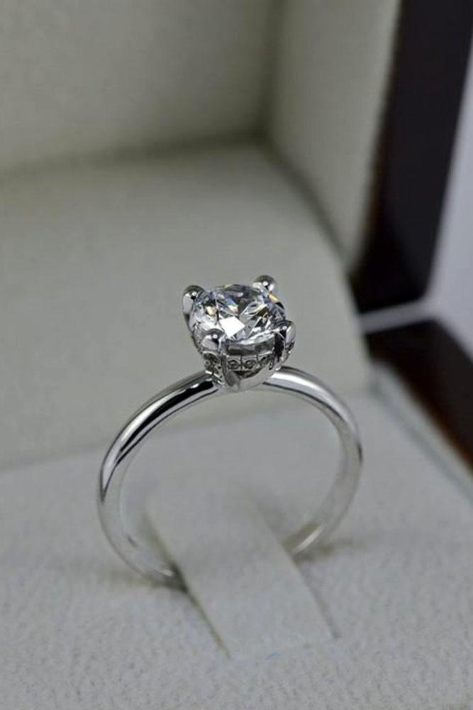 round engagement rings simple engagement rings white gold engagement rings