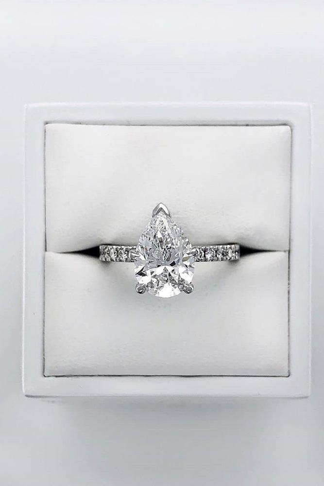 solitaire engagement rings white gold engagement rings pear shaped engagement rings diamond rings