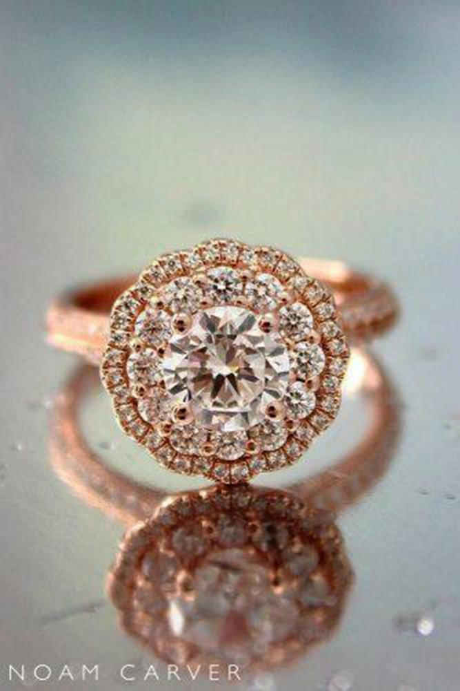unique engagemen rings rose gold engagement rings halo engagement rings