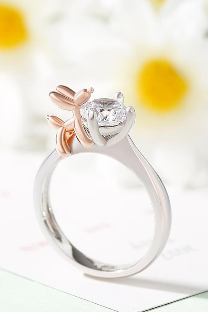unique engagemen rings two tone engagement rings animal engagement rings