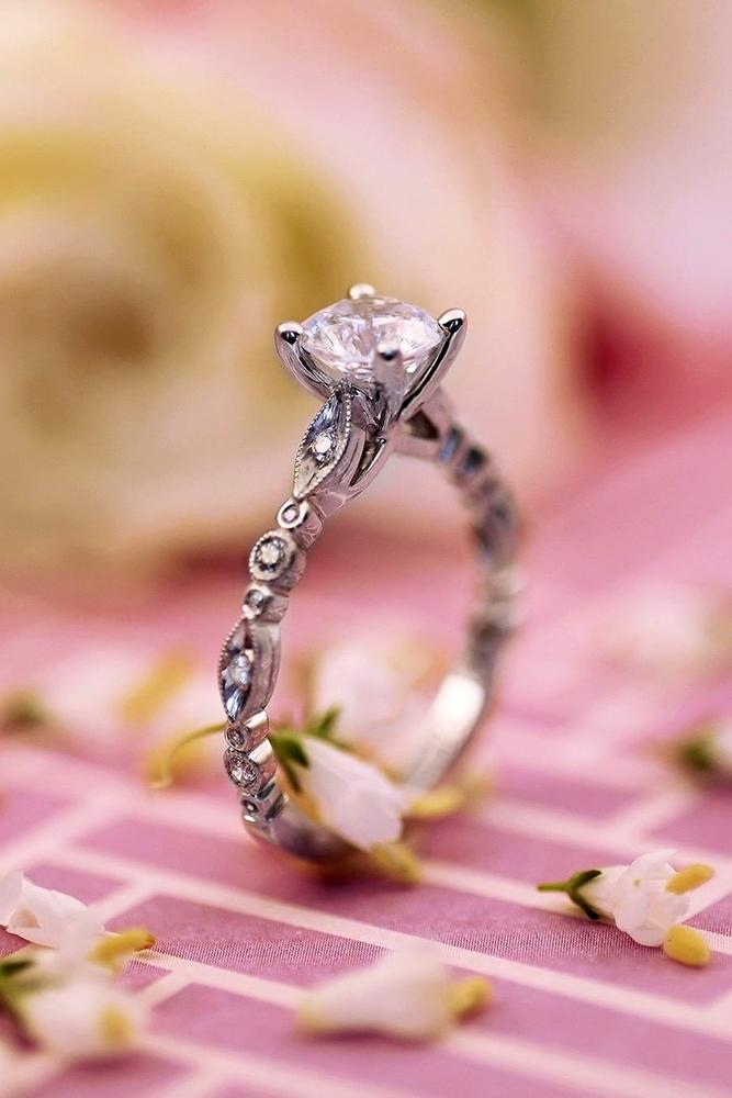 unique engagemen rings white gold engagement rings vintage engagement rings