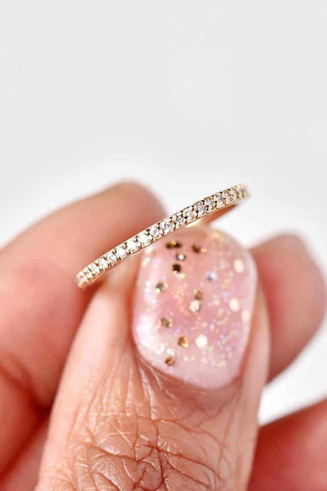 bridal sets diamond wedding rings rose gold wedding bands pave band