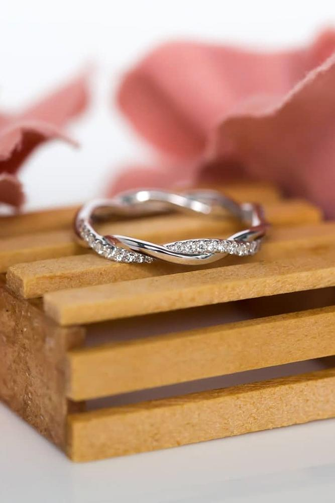 diamond wedding rings white gold wedding bands stackable bands unique bands twisted bands