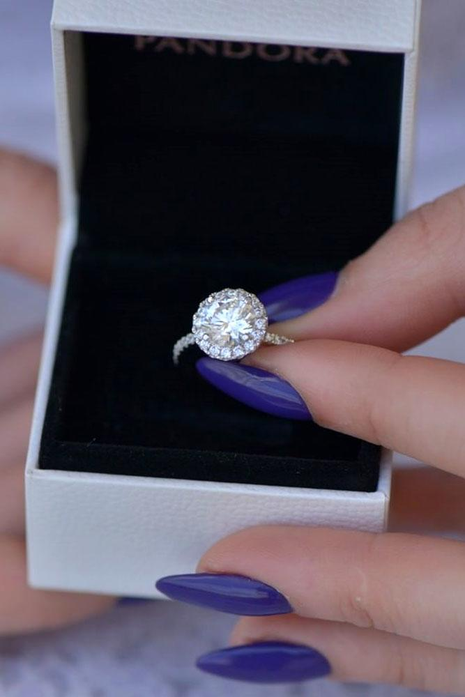 halo engagement rings white gold engagement rings round cut engagement rings