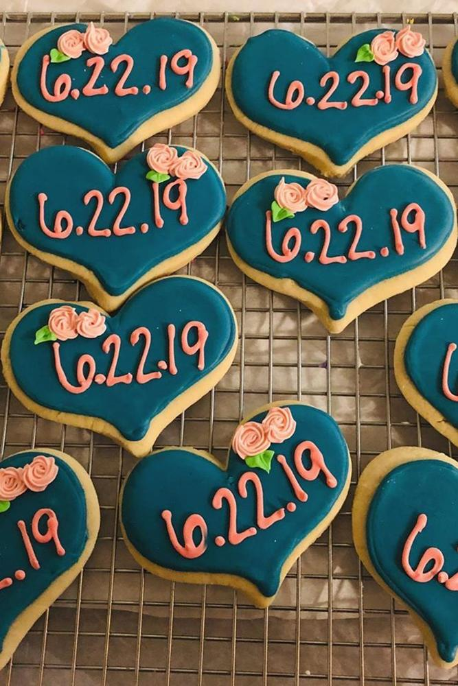 save the date ideas with sweets heart biscuit save the proposal date