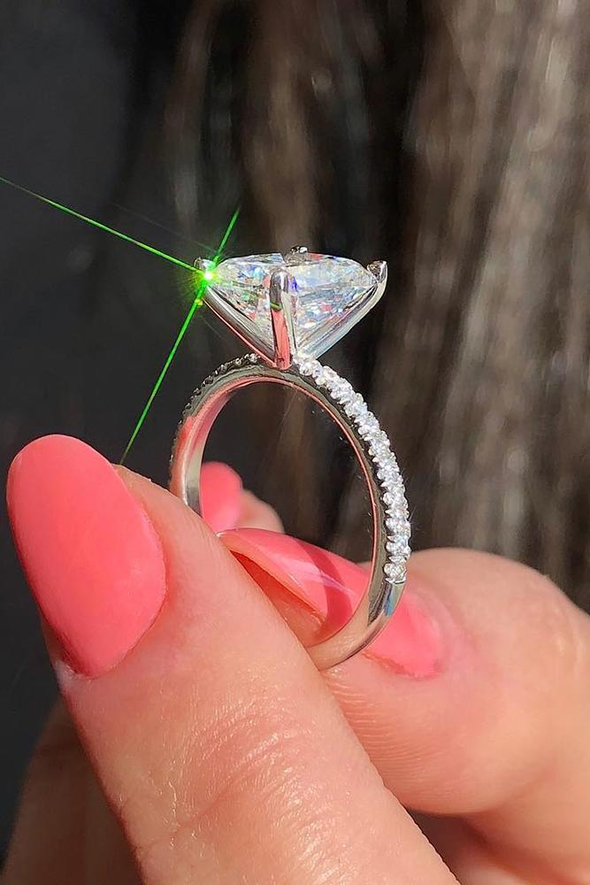 solitaire engagement rings cathedral diamond rings simple rings white gold rings