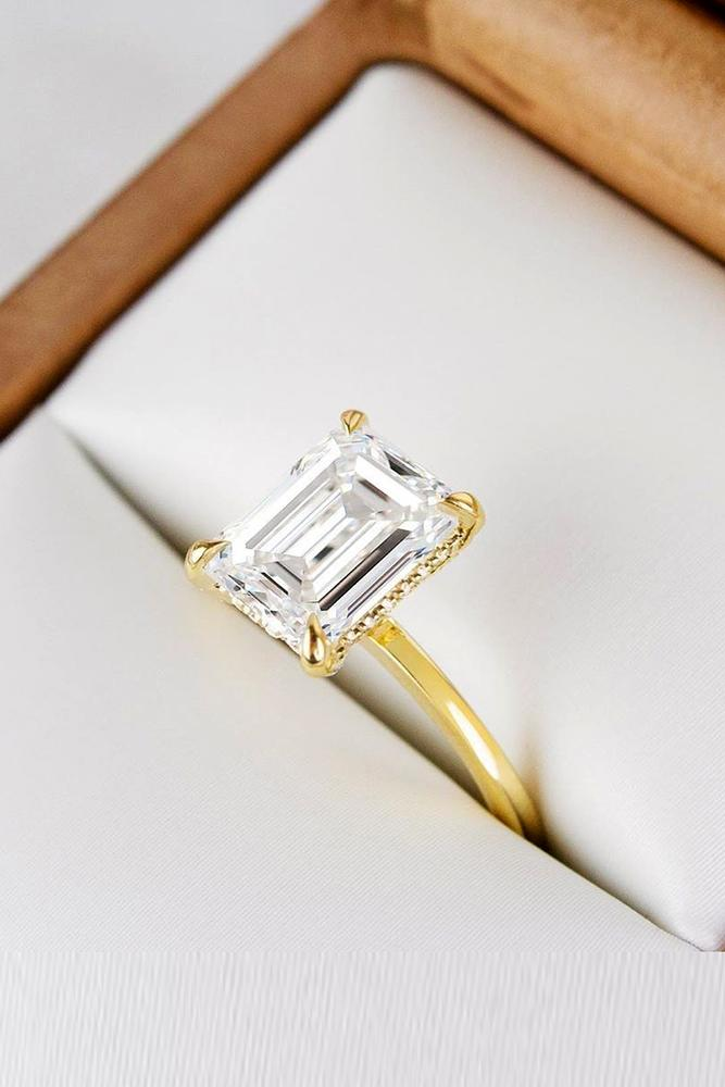 solitaire engagement rings emerald cut engagement rings diamond engagement rings