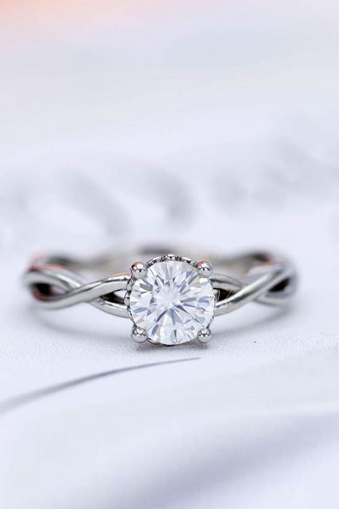 unique engagement rings white gold engagement rings round diamond engagement ring