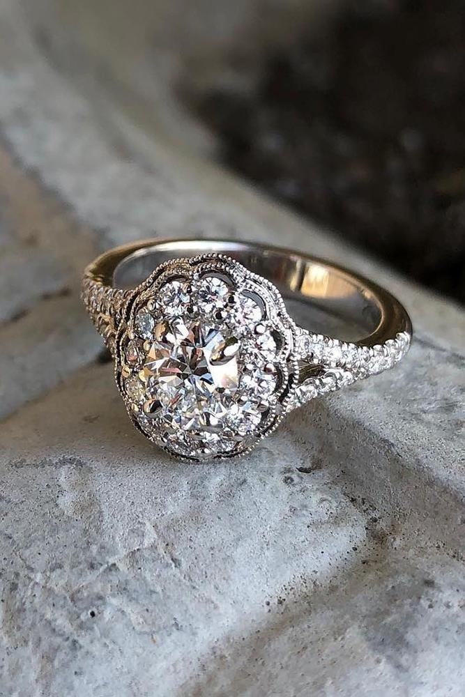 unique engagement rings white gold engagement rings vintage engagement ring