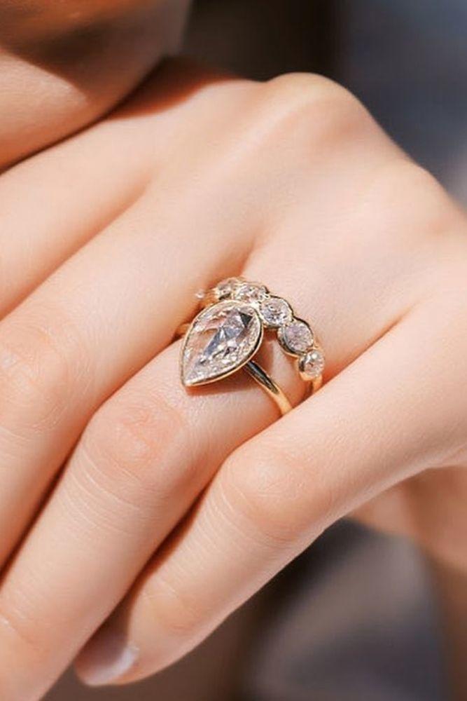 vintage wedding rings marquise & pear cut rings1