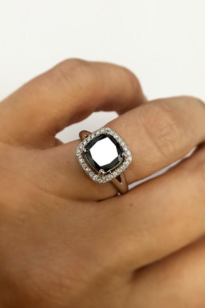 black diamond engagement rings white gold engagement rings halo rings
