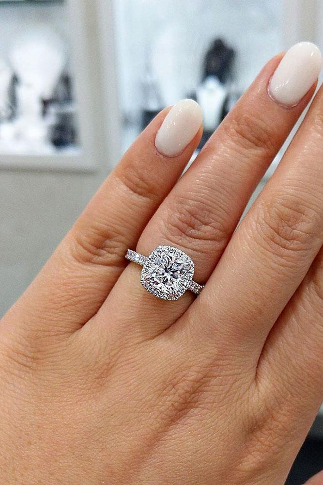 diamond engagement rings white gold engagement rings halo rings cushion cut rings