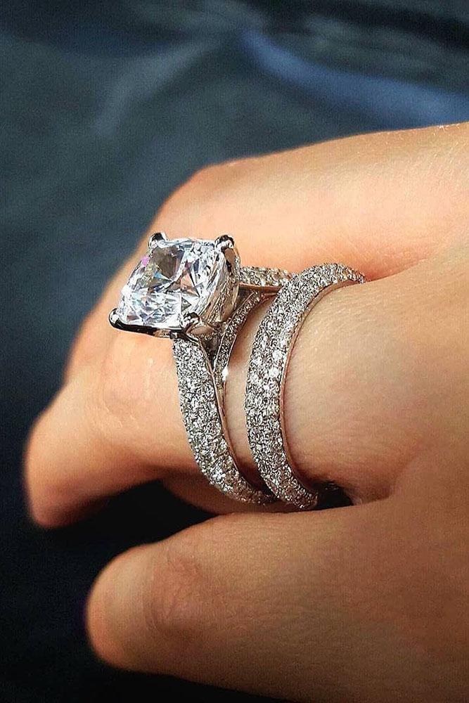 diamond wedding rings round diamond rings bridal sets white gold ring