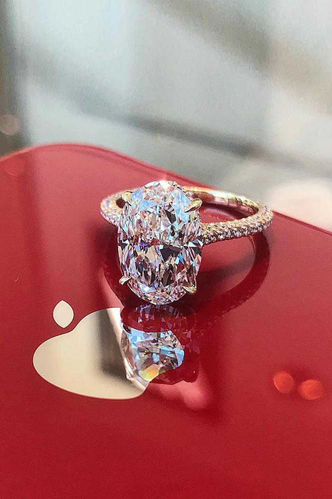 oval engagement rings solitaire engagement rings diamond rings