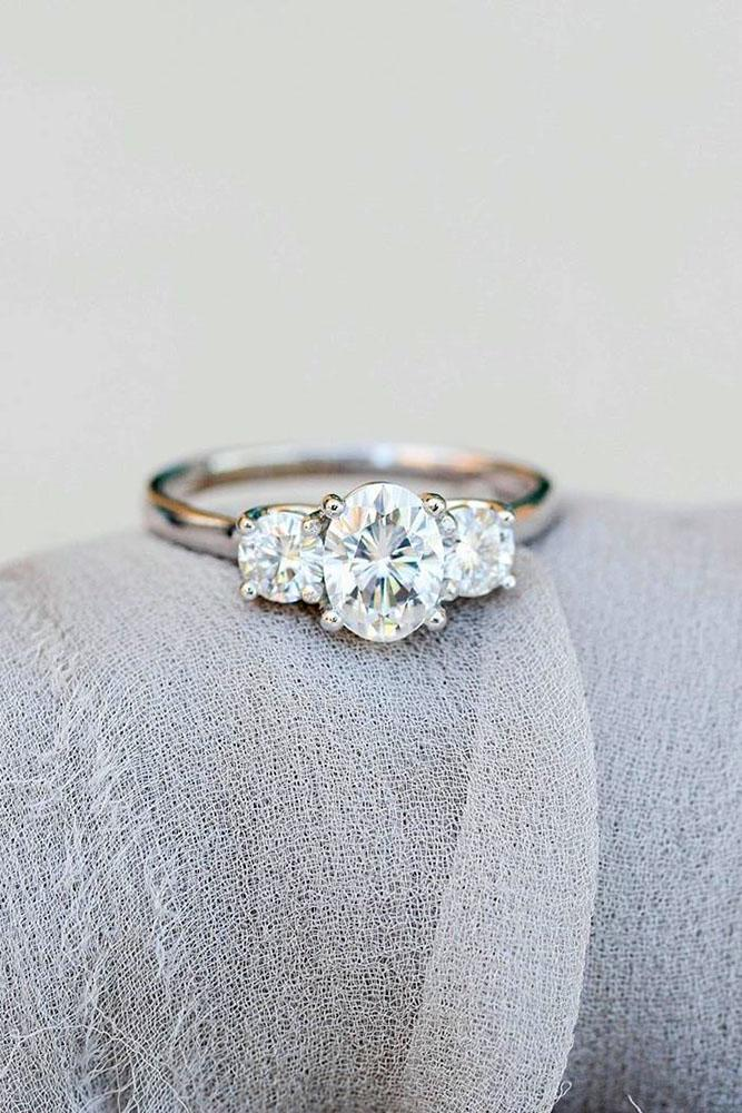 oval engagement rings three stone rings diamond rings white gold ring