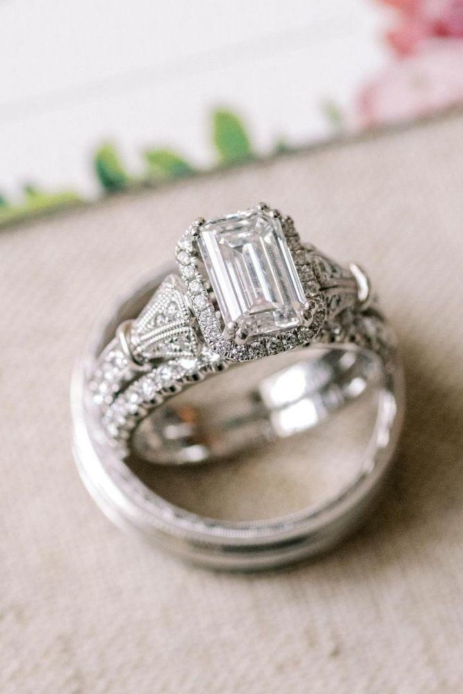 princess cut engagement rings diamond halo rings2
