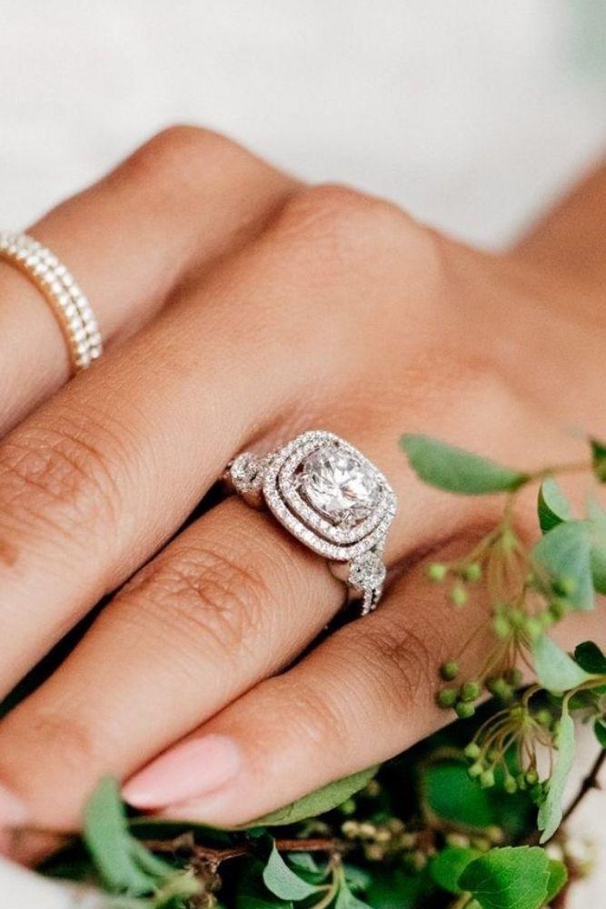 princess cut engagement rings diamond halo rings