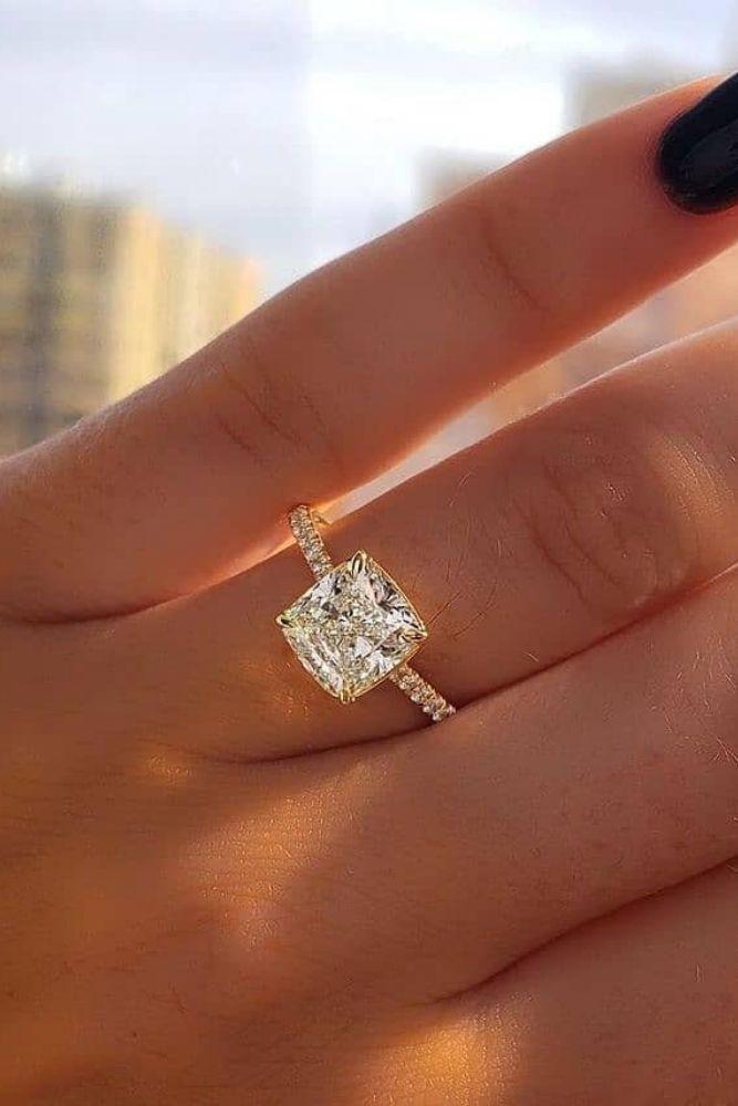 princess cut engagement rings solitaire rings
