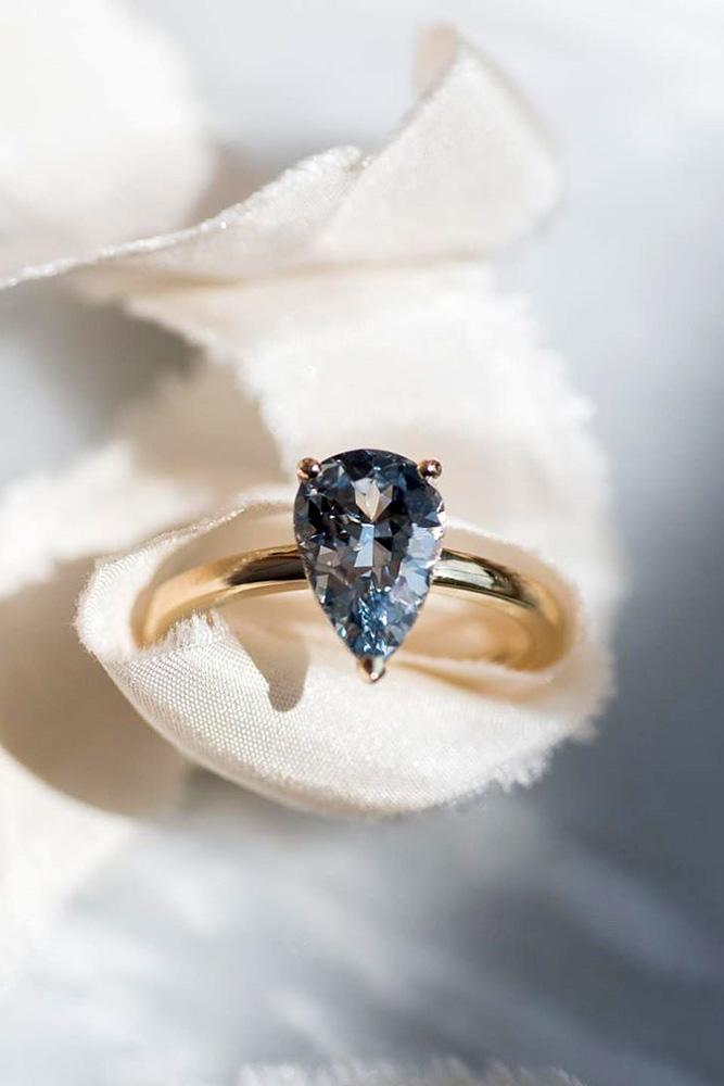 sapphire engagement rings rose gold engagement rings pear shaped rings