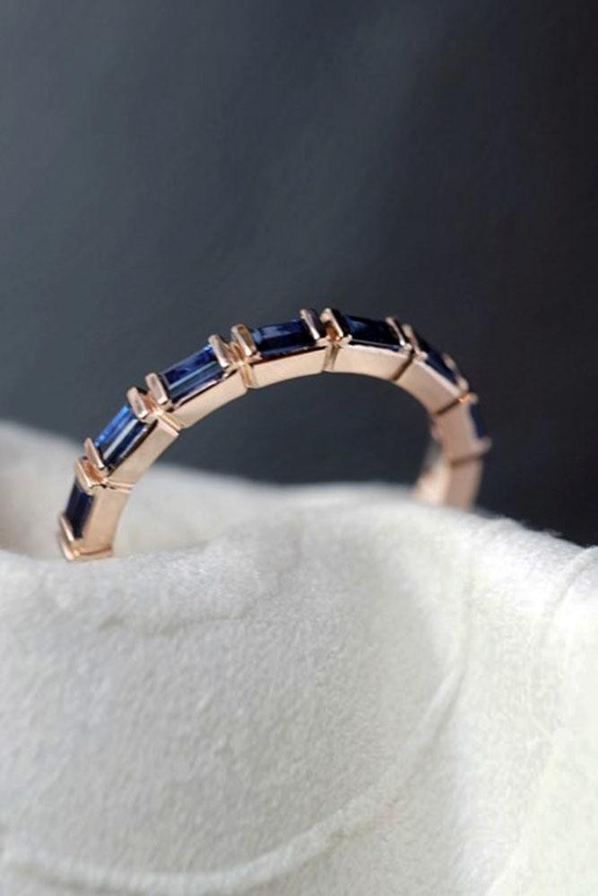 sapphire engagement rings rose gold engagement rings wedding band