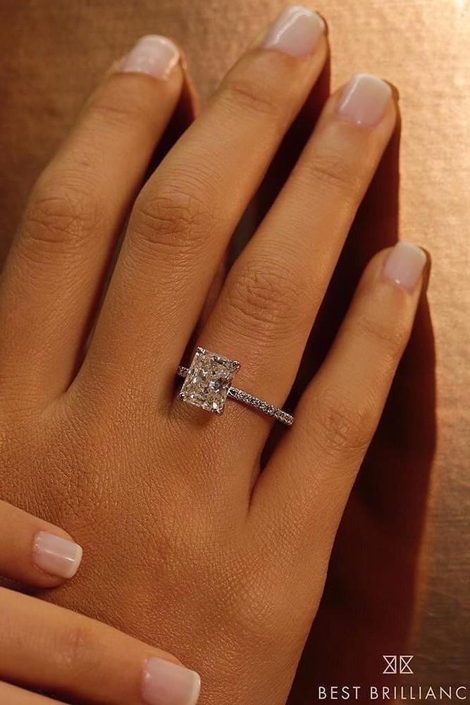 solitaire engagement rings cushion cut rings diamond rings white gold rings