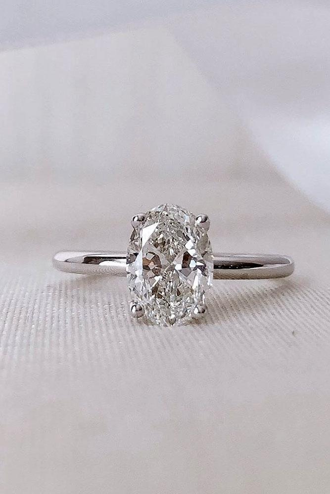 solitaire engagement rings oval cut rings diamond rings white gold rings