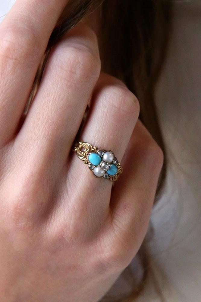 unique engagement rings floral engagement rings vintage engagement ring