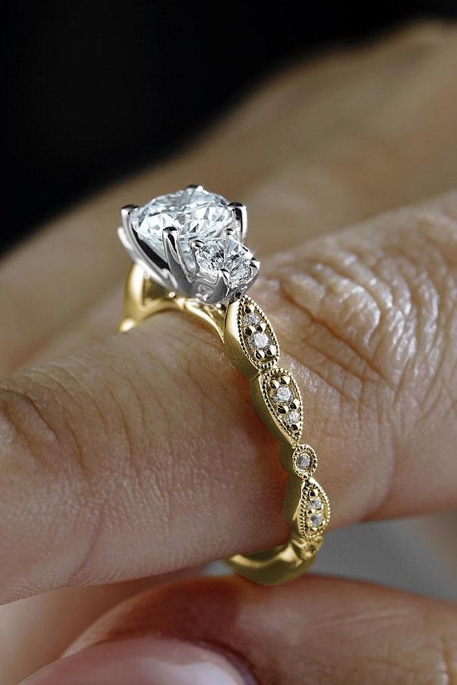 unique engagement rings rose gold engagement rings round cut engagement rings