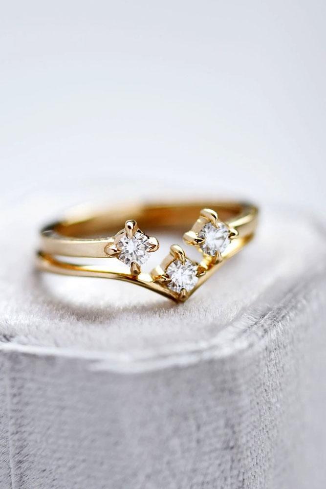 unique engagement rings rose gold engagement rings three stone engagement rings