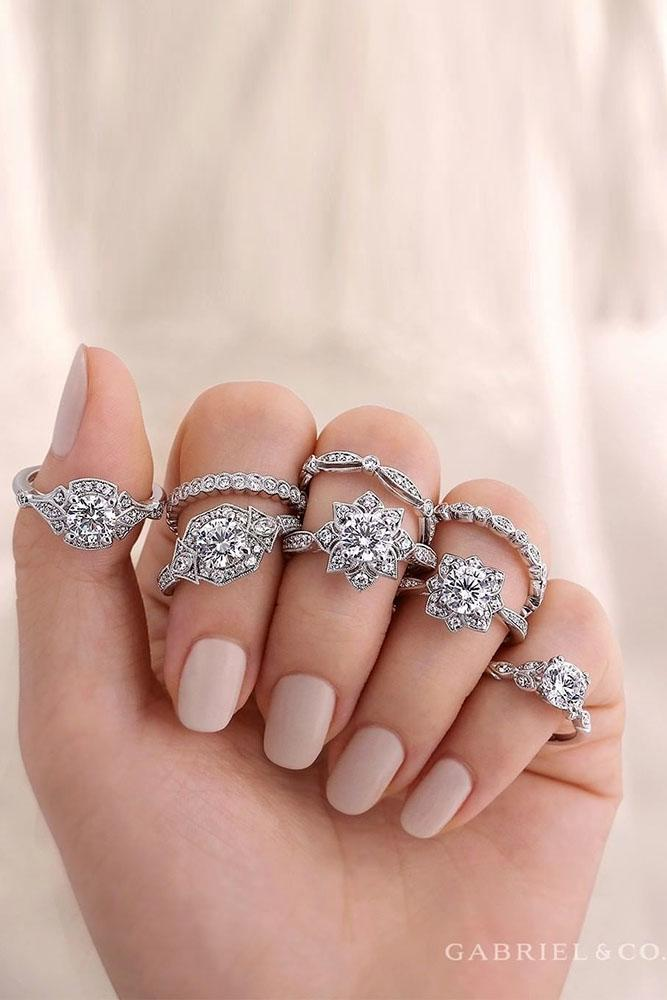wedding ring sets bridal sets white gold engagement rings unique ring