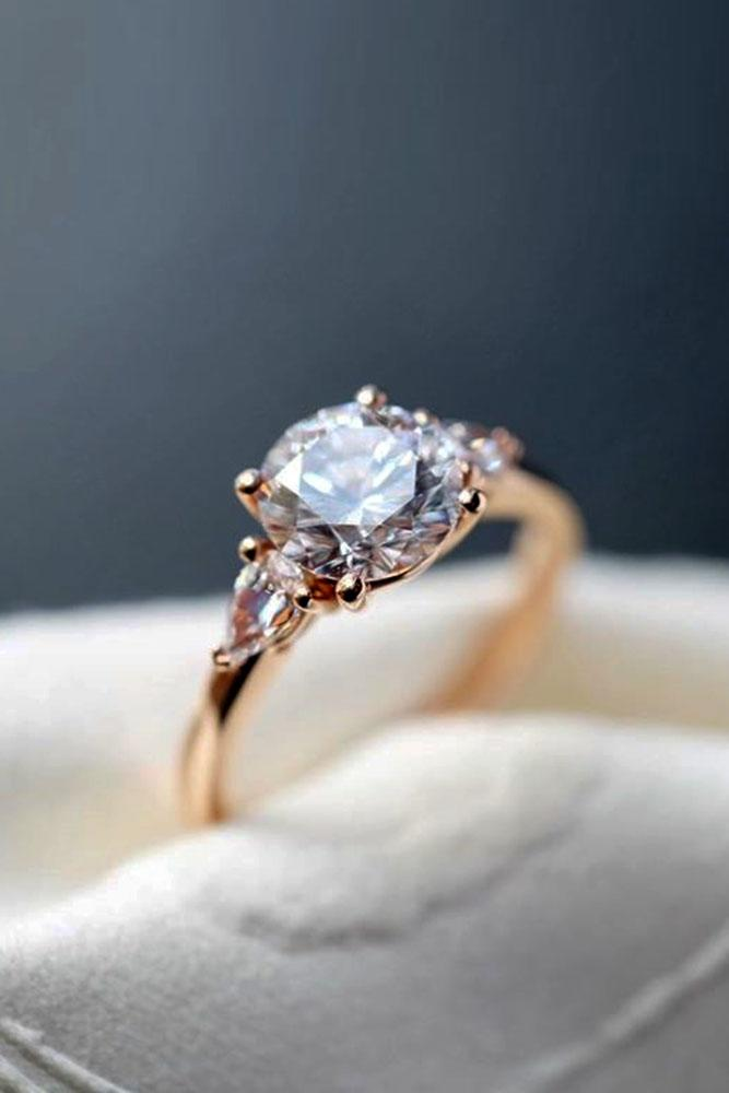 diamond engagement rings three stone ring round cut engagement ring