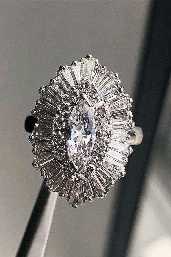 marquise diamond white gold ring unique ring