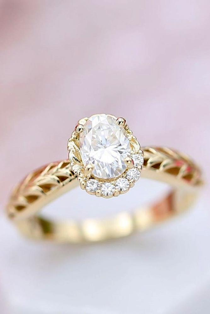 oval engagement rings white gold engagement rings halo rings floral