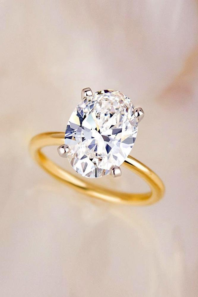 oval engagement rings rose gold engagement rings solitaire rings
