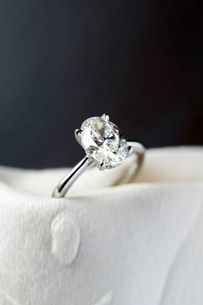 oval engagement rings white gold engagement rings solitare rings