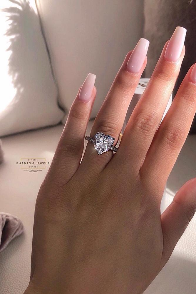 simple engagement rings heart cut engagement rings rings best engagement rings