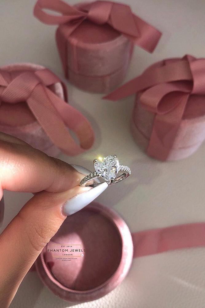 simple engagement rings heart cut engagement rings rings solitaire engagement rings