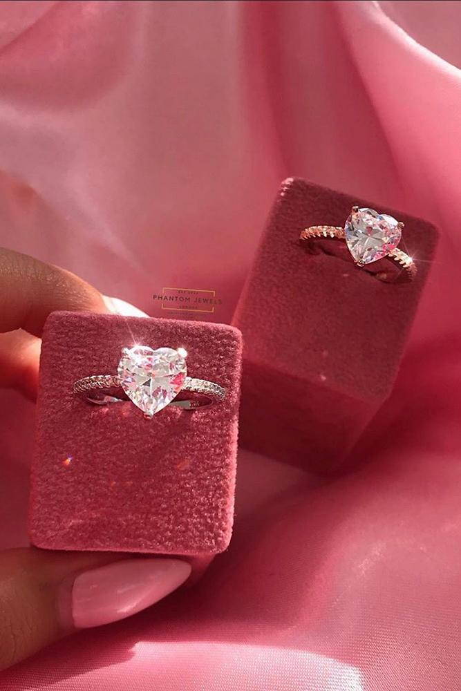 simple engagement rings heart cut engagement rings rings solitaire engagement rings ring box