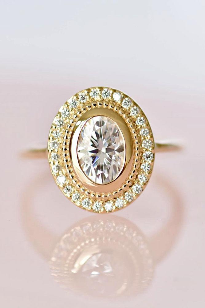 vintage engagement rings oval cut ring halo ring antique ring