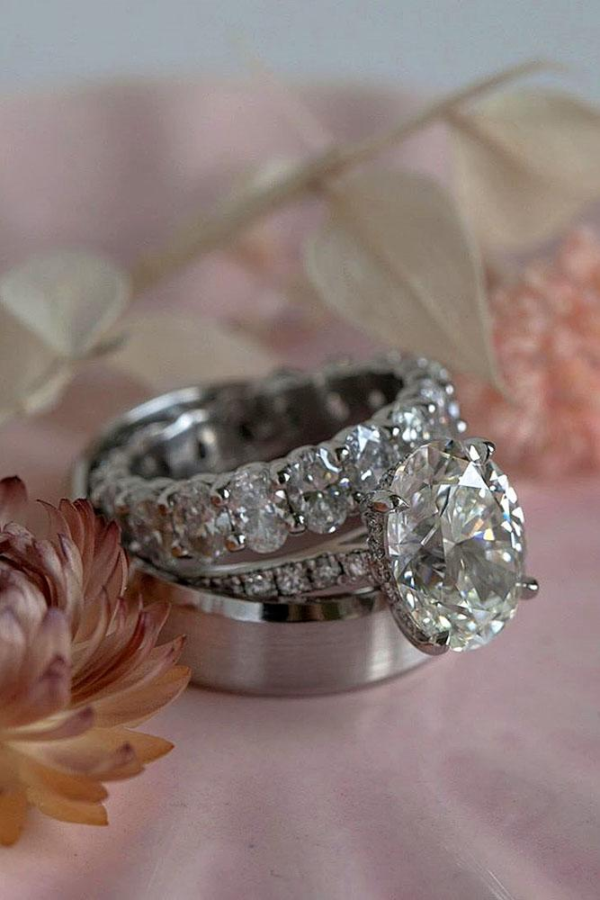 white gold engagement rings wedding ring sets